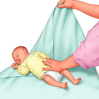 just born swaddle blanket instructions