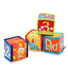 large blocks are a great toy for the 6 9 month old this toy can help the child begin to develop his motor skills as he stacks and unstacks the blocks