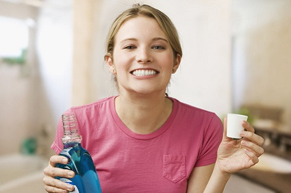 Use a germicidal mouth rinse